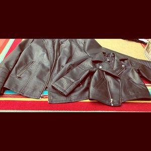 Mommy and me moto jacket set